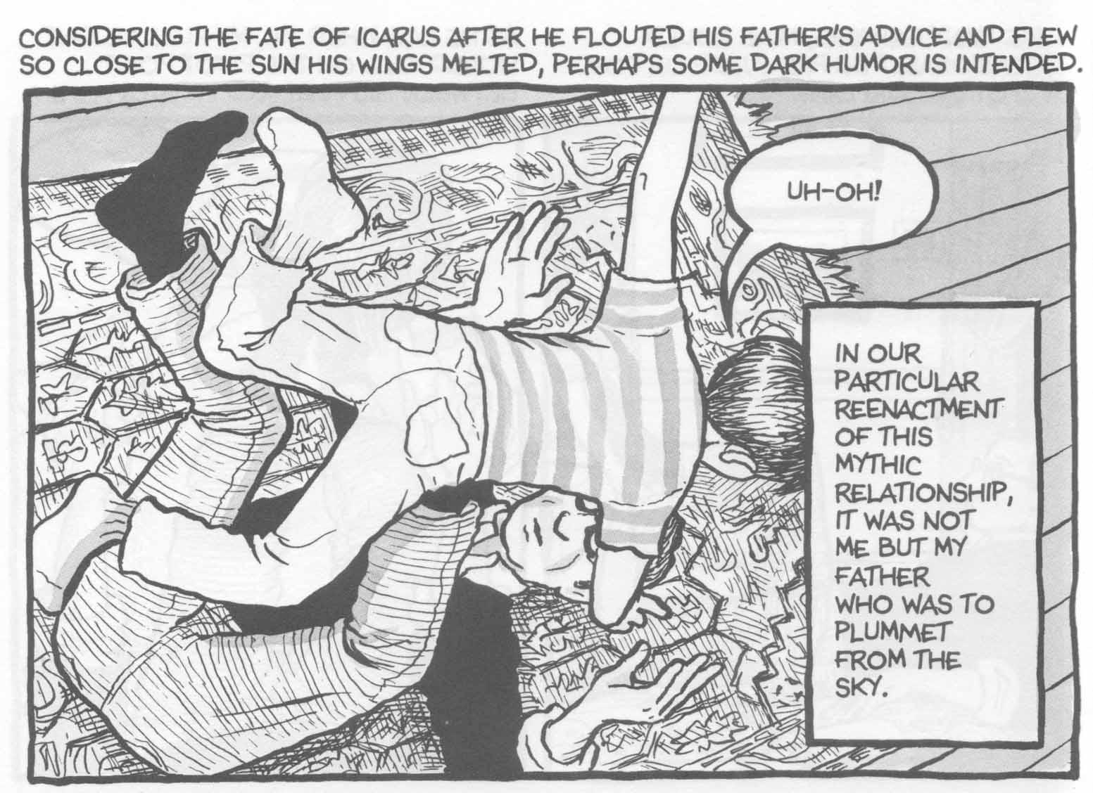 the pain of losing a father in fun home a book by alison bechdel