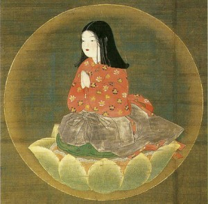 Chigo Daishi - Anonymous 14th century wall scroll