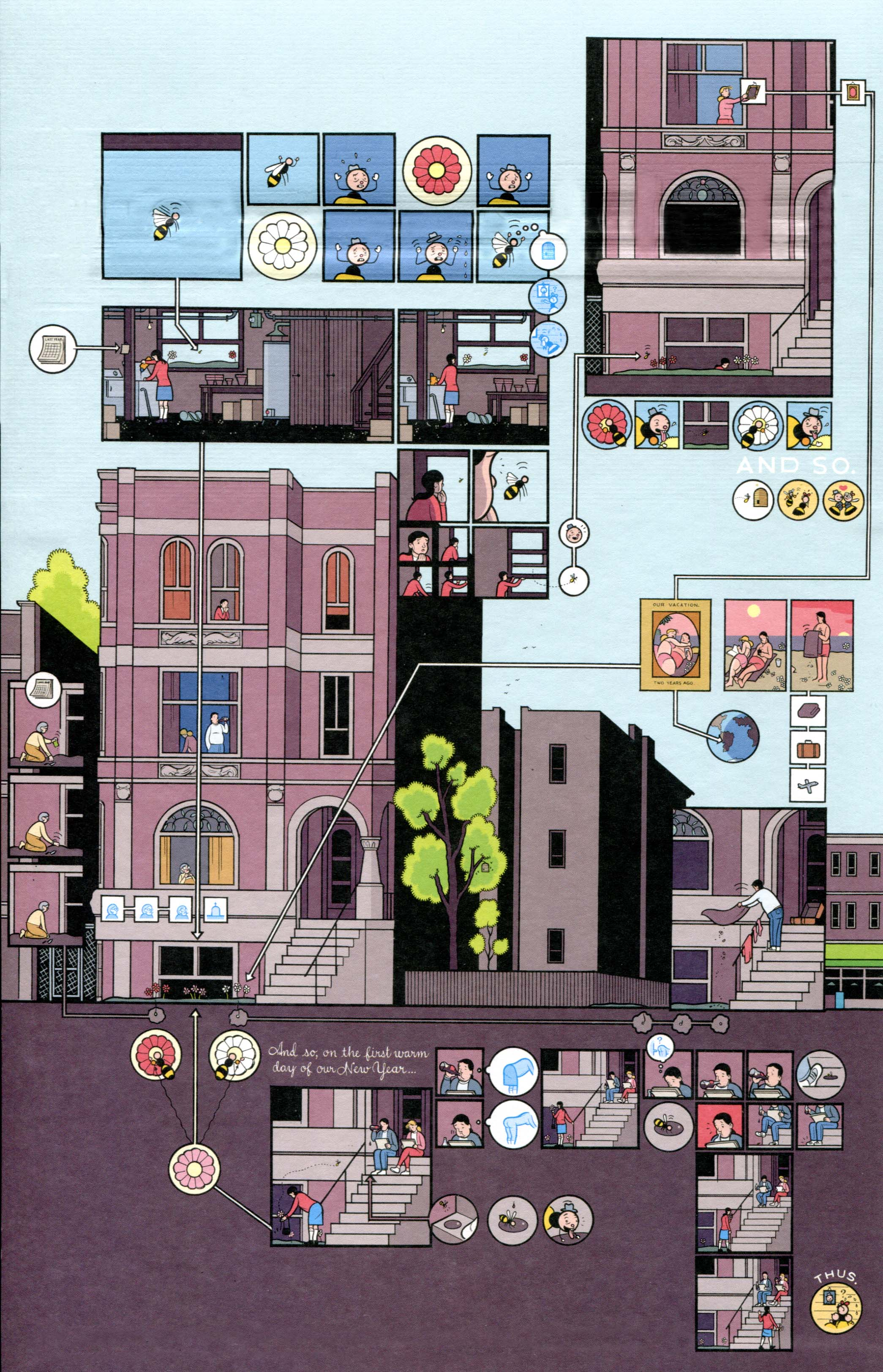 Reading Drawings Architecture And Comics The Hooded Utilitarian Plumbing Diagram Two Tale Residence Story Building Stories