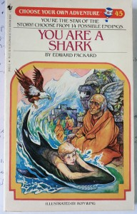 cover image- You are a Shark- Written by Edward Packard, and illustrated by Ron Wing