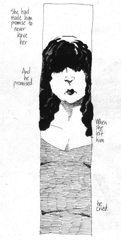 "page 8 from Dave Sim's 24 hour comic, ""Bigger, Blacker Kiss"""