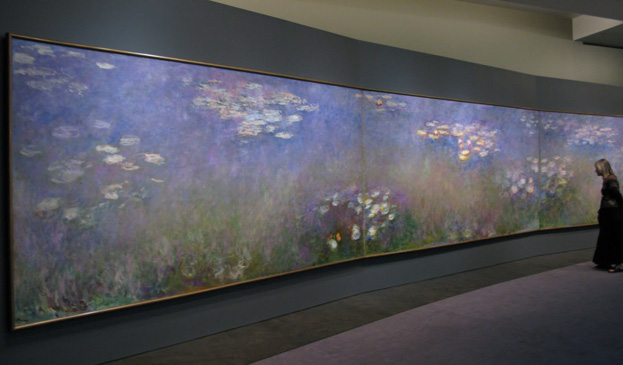 an analysis of monets series waterlilies green reflections Waterlily pond, green harmony [le bassin aux nymphéas, harmonie verte] followed in 1900 in these works he celebrates his garden of massed flowering plants, with the water visible through the leaves and flowers in later series monet foregoes the bridge, banks.