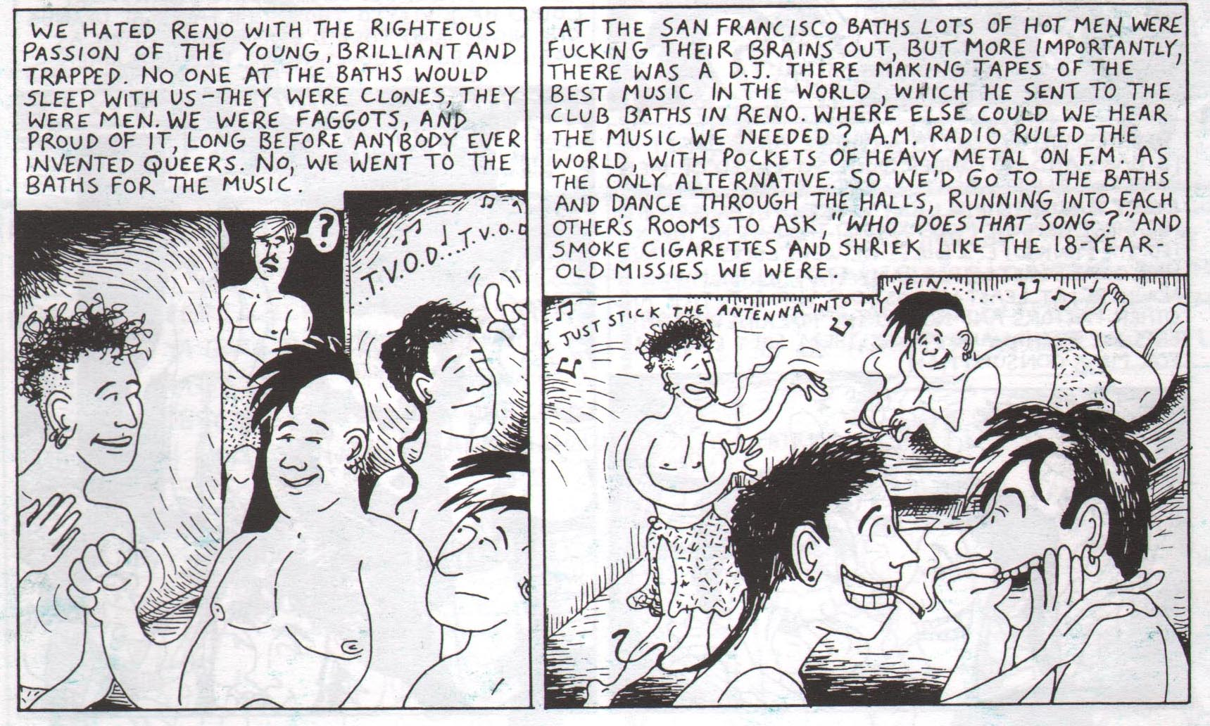... of the gay men who frequented the baths in his hometown in Reno, Nevada: ...