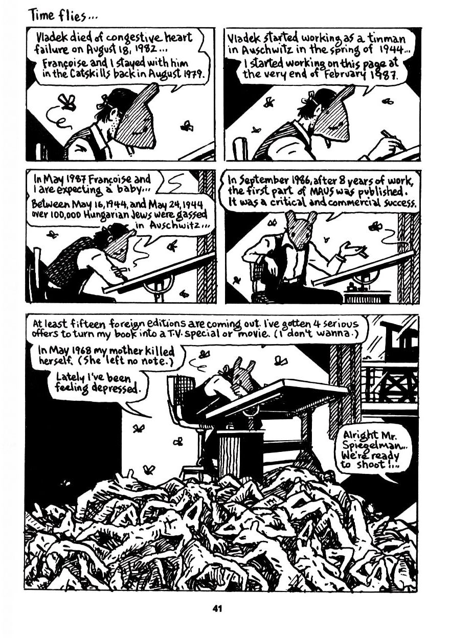 """a literature analysis of art spiegelman s series maus ii a survivors tale and here my troubles began The challenges of the """"real"""" and depth art spiegelman's maus ii: and here my troubles began"""" presents itself as having spiegelman's maus series is a."""