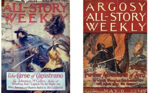 Left: cover of All-Story Weekly, 1919. Right: cover of Argosy All-Story Weekly, 1922.