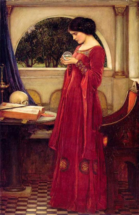 John William Waterhouse The Crystal Ball with the skull  1902